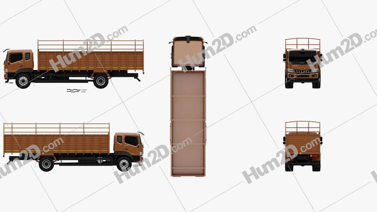 Mahindra Furio 17 BS6 Flatbed Truck 2020 Clipart Image