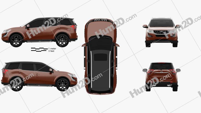 Mahindra XUV500 2019 car clipart