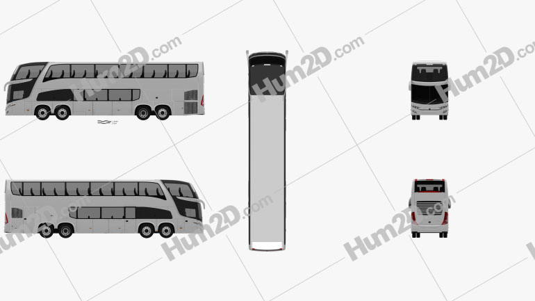 Marcopolo Paradiso G7 1800 DD 4-axle Bus 2017 clipart