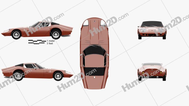 Marcos 1600 GT 1972 car clipart