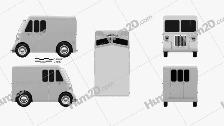 Marmon-Herrington Delivery Truck 1946 clipart