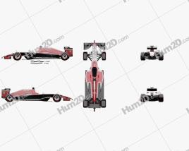 Marussia MR03 2014 Clipart