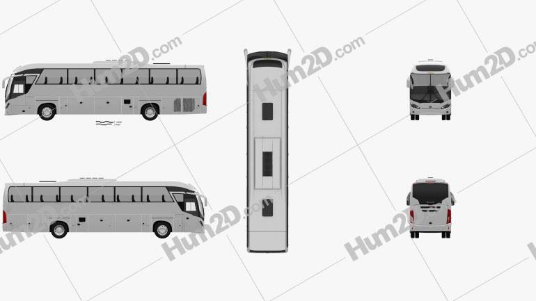 Mascarello Roma R6 Bus 2019 clipart