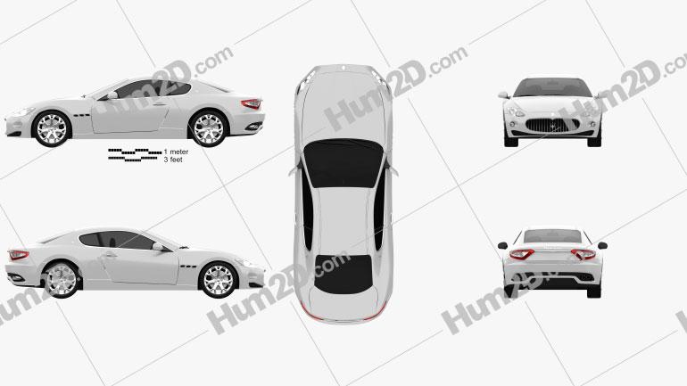 Maserati GranTurismo 2011 Clipart Image