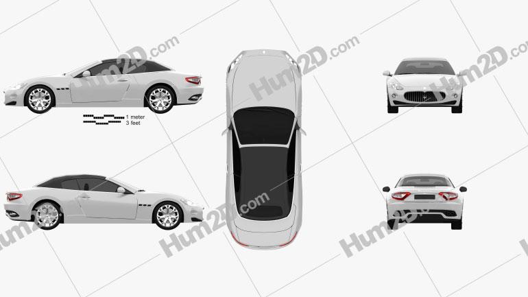 Maserati GranCabrio 2011 Clipart Image