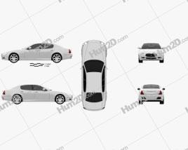 Maserati Quattroporte 2011 car clipart
