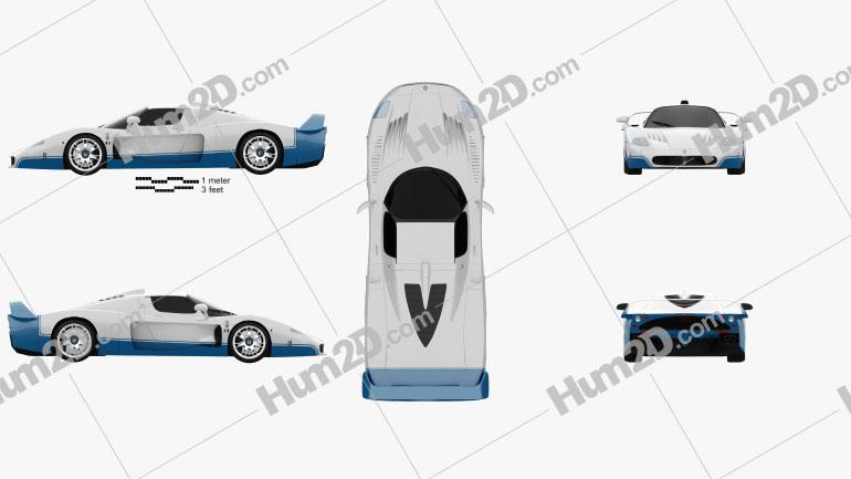 Maserati MC12 Clipart Image