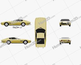 Maserati Ghibli coupe 1967 Clipart