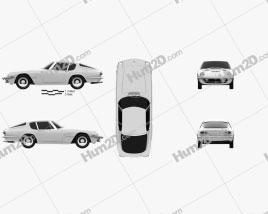 Maserati Mistral 1970 car clipart