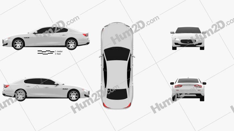 Maserati Quattroporte 2013 car clipart