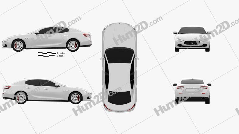 Maserati Ghibli III Q4 2013 Clipart Image