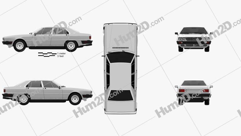 Maserati Quattroporte 1979 car clipart