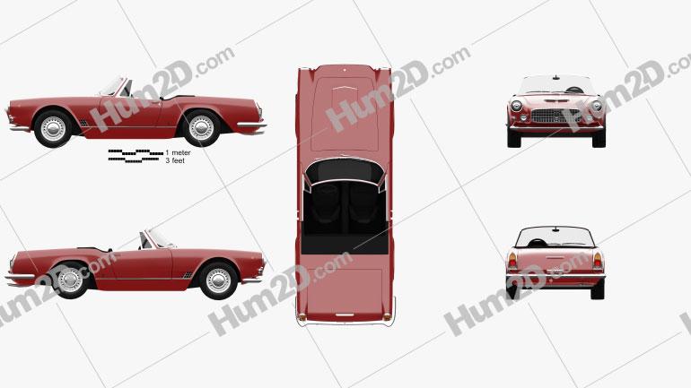 Maserati 3500 Spyder 1959 car clipart