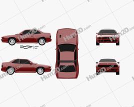 Maserati Shamal 1990 car clipart