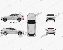 Maserati Levante 2017 car clipart