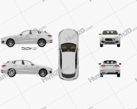 Maserati Levante with HQ interior 2017 car clipart