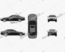 Maserati Quattroporte 2004 car clipart