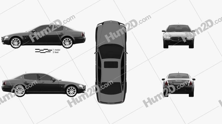 Maserati Quattroporte 2004 Clipart Image