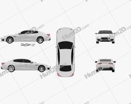 Maserati Quattroporte GTS Gran Sport 2017 car clipart
