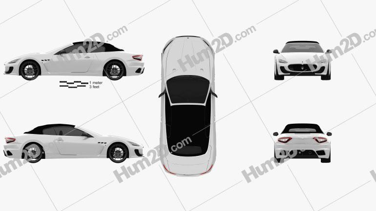 Maserati GranCabrio MC 2013 car clipart