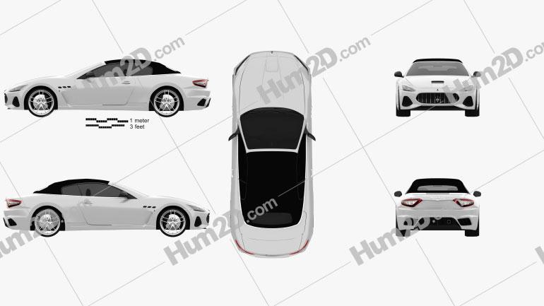 Maserati GranCabrio MC 2017 Clipart Image