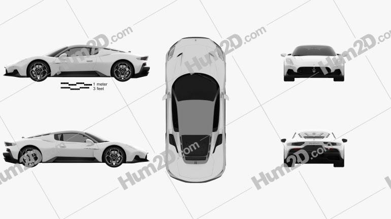 Maserati MC20 2021 car clipart