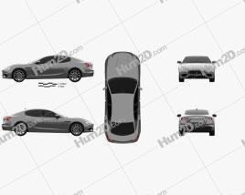 Maserati Ghibli Hybrid GranSport 2020 Clipart