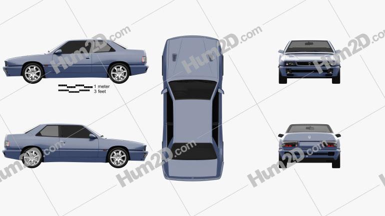Maserati Ghibli 1992 car clipart