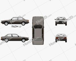 Maserati Biturbo coupe with HQ interior 1982 car clipart