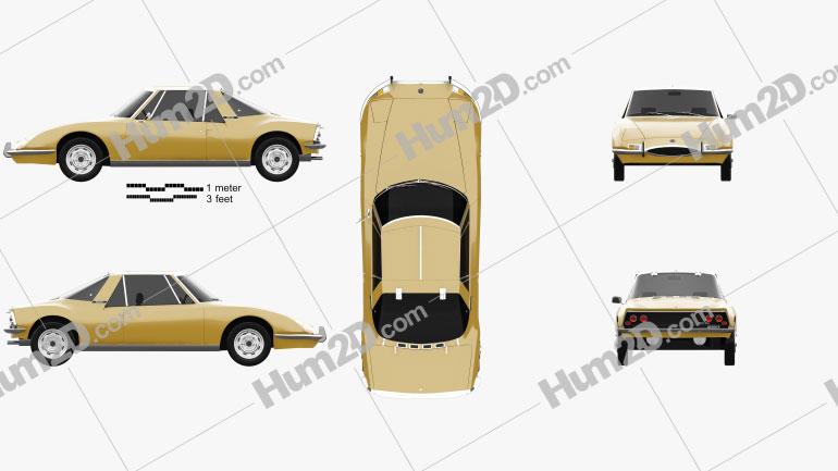Matra 530 1967 car clipart