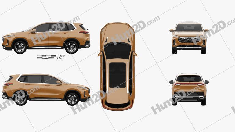 Maxus D60 2019 car clipart