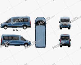 Maxus Deliver 9 L2H2 Passenger Van 2020 clipart