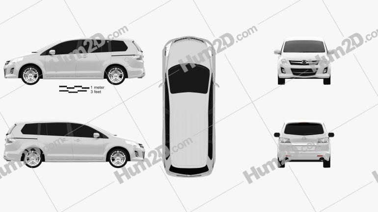 Mazda 8 MPV 2010 Clipart Image
