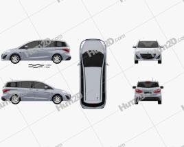 Mazda 5 (Premacy) 2011 car clipart