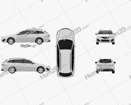 Mazda 6 Wagon 2011 Clipart