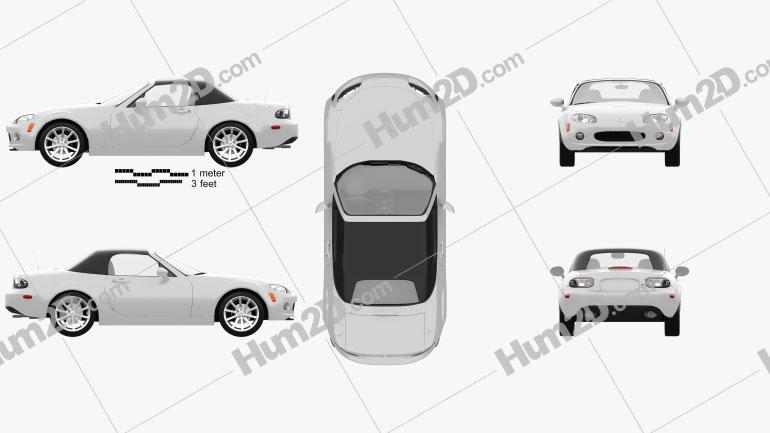 Mazda MX-5 2009 car clipart