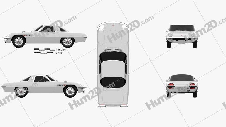 Mazda Cosmo 1967 Clipart Image