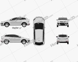 Mazda CX-7 2012 car clipart