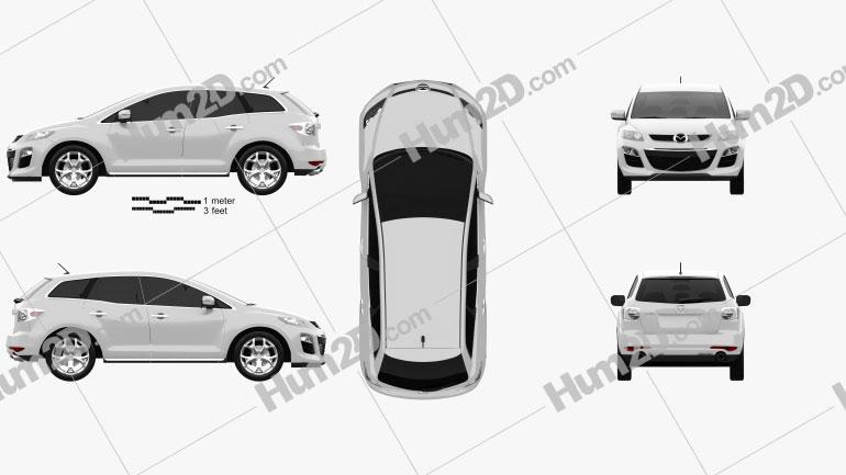 Mazda CX-7 2012 Clipart Image