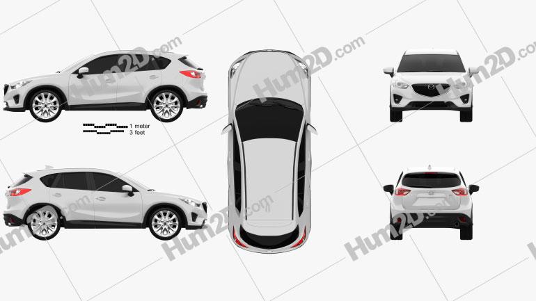 Mazda CX-5 2012 Clipart Image