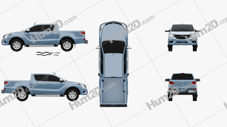 Mazda BT-50 Dual Cab 2012 car clipart