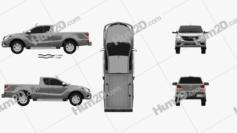 Mazda BT-50 Crew Cab 2012 Clipart Image