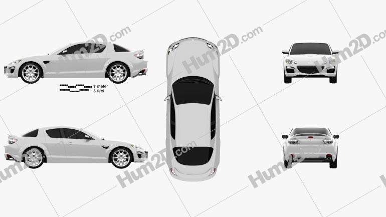 Mazda RX-8 2011 car clipart