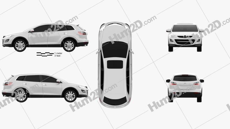 Mazda CX-9 2012 car clipart