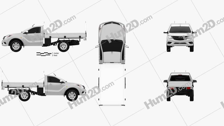 Mazda BT-50 Single Cab 2012 car clipart