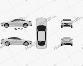 Mazda 6 sedan 2013 Clipart