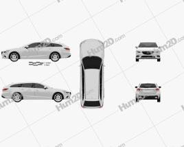 Mazda 6 wagon 2013 car clipart