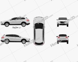 Mazda CX-9 2013 car clipart