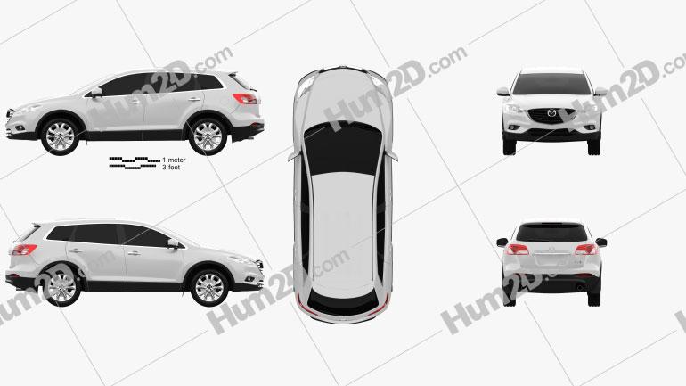 Mazda CX-9 2013 Clipart Image