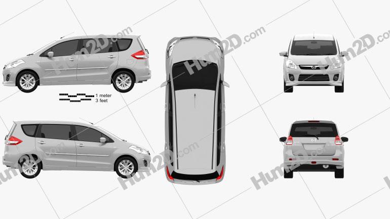 Mazda VX-1 2013 Clipart Image